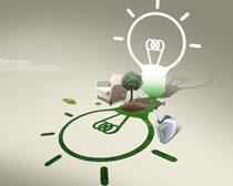 创意环保节能科技PSD素材