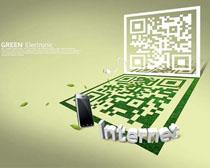 手机二微码科技PSD素材