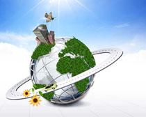 科技环保地球PSD素材
