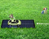 草地自然景色封面PSD素材