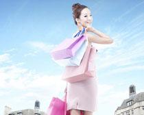 时尚购物女人PSD素材