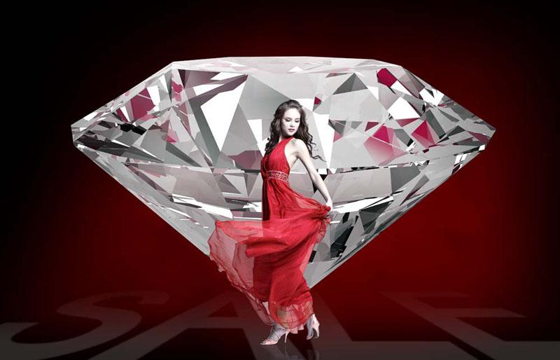 水晶钻石简笔画