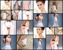 穿婚纱的女人摄影高清图片