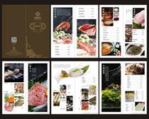 古典火锅菜谱菜单设计矢量素材