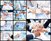 商务团队合作统计表高清图片
