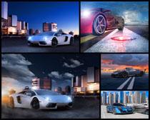 跑车与道路摄影高清图片