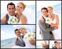 海边婚纱摄影高清图片