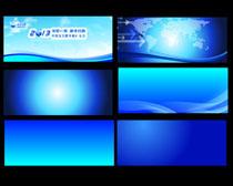 高清蓝色会议背景设计矢量素材