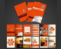 西餐厅加盟手册设计PSD素材