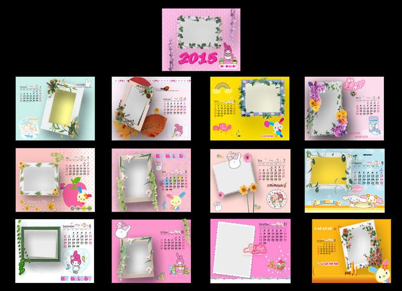 相册相框日历模板psd素材图片