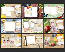 2014卡通儿童相册台历设计PSD素材