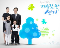 韩国家庭人物PSD素材