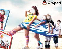 儿童运动服品牌广告PSD素材