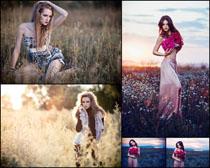 花丛写真美女摄影高清图片