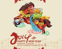 2013恭贺新春贺卡矢量素材