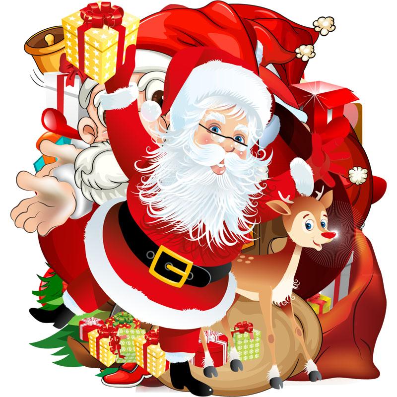 圣诞老人剪贴画psd素材