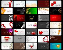 情人节爱心名片卡片设计矢量素材