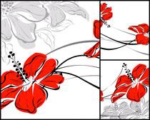 手绘花朵摄影高清图片
