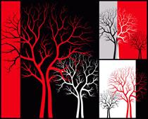 树枝抽像无框画高清图片