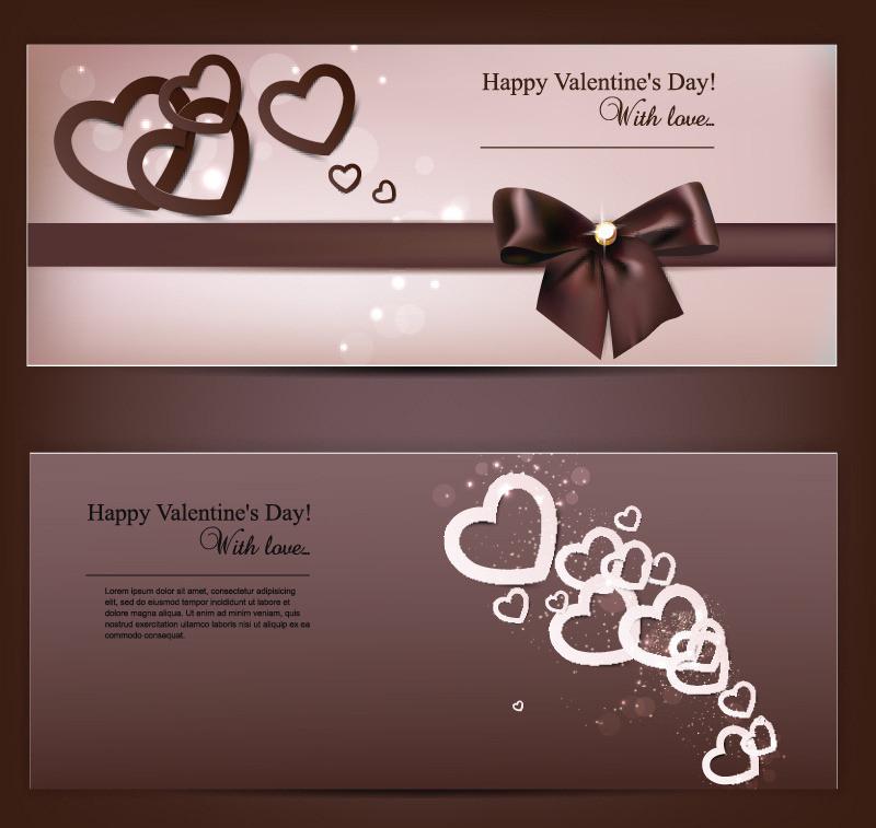 情人节贺卡卡片设计矢量素材 - 爱图网设计图片素材