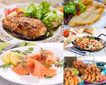 美食海鲜鱼片虾摄影高清图片