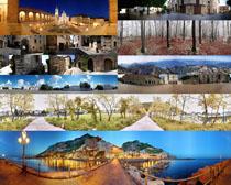 横幅建筑与 风景 摄影高清图片