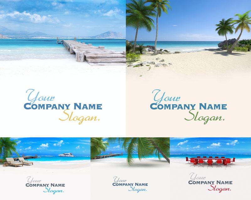 马尔代夫景色封面高清图片