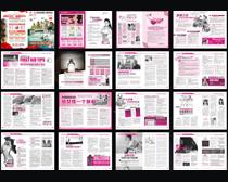 高端妇科宣传杂志设计矢量素材
