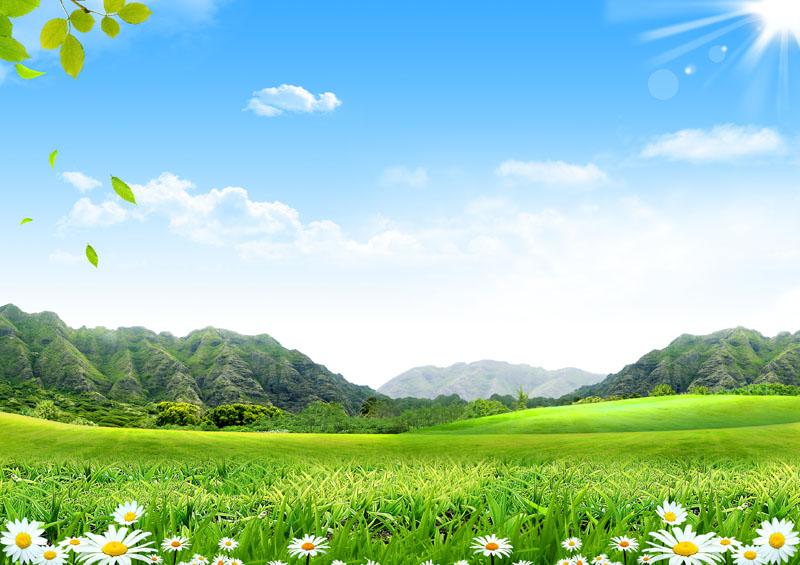 春天自然风景psd素材