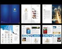 简洁企业宣传册设计矢量素材