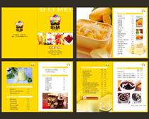 甜品屋菜譜設計矢量素材