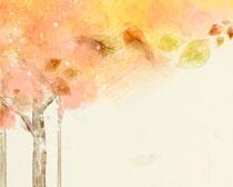 卡通涂画树摄影PSD素材