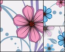 卡通花朵无框画高清图片