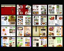 美食菜谱菜单设计PSD素材
