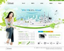 女性宣传韩国网页模板PSD素材