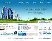 企业大厦网页模板PSD素材