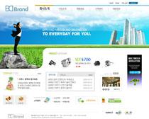 企业公司数码产品网页模板PSD素材