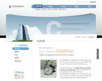 公司大廈韓國網頁模板PSD素材