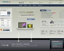 灰色展示風格網頁模板PSD素材