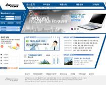 蓝色商业网页模板PSD素材