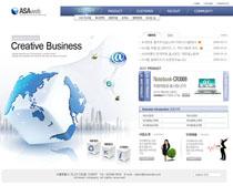 韩国科技文化网页设计PSD素材