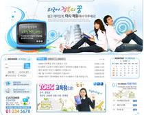韩国校园网页模板PSD素材