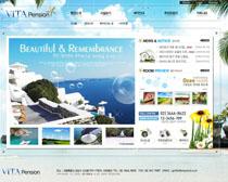 韩国旅游网站设计PSD源文件