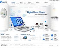 韩国公司数码网页设计PSD源文件
