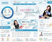 韩国大学校园网站设计PSD源文件
