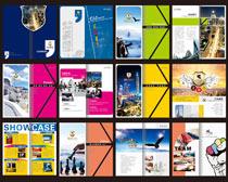 时尚企业宣传册矢量素材