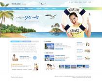韩国景点旅游网站PSD源文件