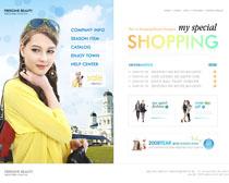 女人购物网站设计PSD源文件