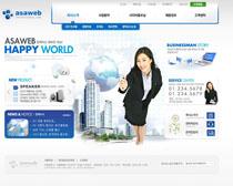 公司企业蓝色商务模板PSD源文件