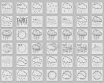 超全手繪天氣PNG圖標